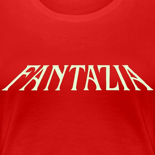Glow in the dark Womens T with Fantazia Crew logo
