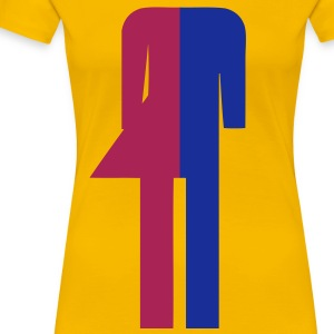 Ladyboy / Tomboy Toilet / Restroom Thai Sign (Headless) - Women's Premium T-Shirt
