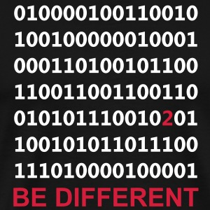 Be Different - Bare være annerledes - Binary - Digital T-skjorter - Premium T-skjorte for menn