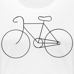 bike cycle cycling logo sport bicycle T-shirts - Premium-T-shirt dam