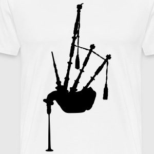 music bagpipe scotland scottish T-Shirts - Men's Premium T-Shirt