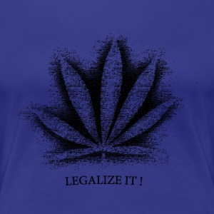 Hanfblatt,  Schwarz, T-Shirt, Hanf, Legalize it ! - Frauen Premium T-Shirt