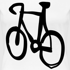 bike cycle cycling logo sport bicycle Tee shirts - T-shirt Premium Femme