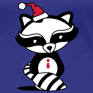 cute raccoon with Santa Hat  T-Shirts - Women's Premium T-Shirt