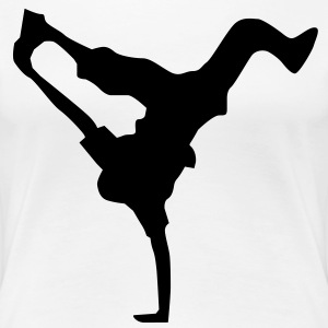 breakdance dance music hiphop Camisetas - Camiseta premium mujer