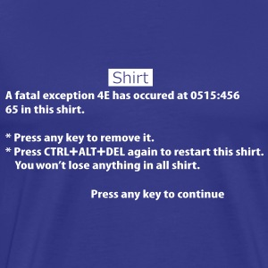 BSOD - Blue Screen of Death - Windows Tee shirts - T-shirt Premium Homme