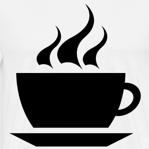 coffee cup tea cafe T-shirts - Premium-T-shirt herr