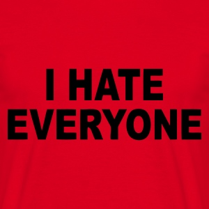 Rouge I hate everyone T-shirts - T-shirt Homme