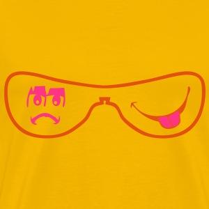 lunette sourire pas content