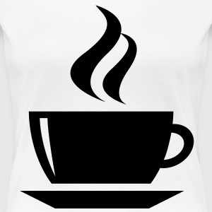 coffee cup tea cafe T-shirts - Dame premium T-shirt