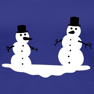 Snowmen Snowman Snow men man T-Shirts - Women's Premium T-Shirt