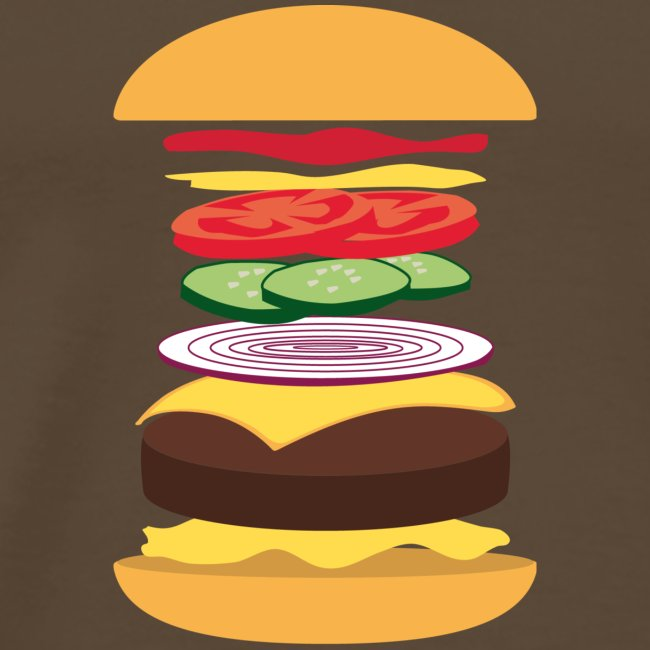 Men's Short Sleeve 'Exploded Burger' T-shirt