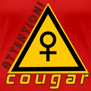 attention cougar Tee shirts - T-shirt Premium Femme