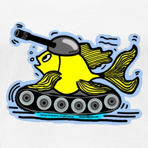 Fish Tank with a cannon,  sparky fabspark - Women's Premium T-Shirt
