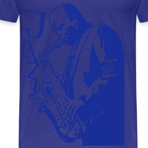 Saxophone player - Men's Premium T-Shirt
