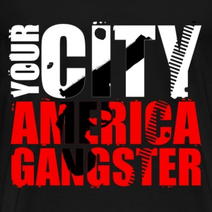 your city america gangster T-Shirts - Men's Premium T-Shirt