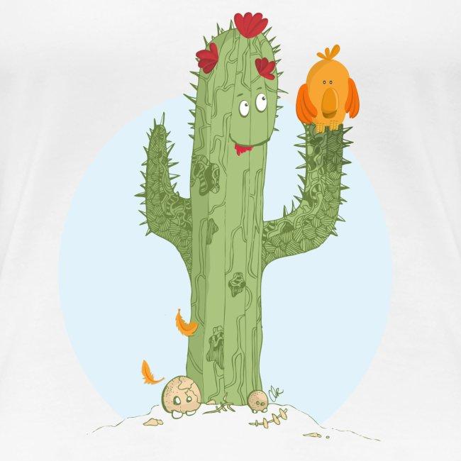 clrinette t shirt femme cactus t shirt premium femme. Black Bedroom Furniture Sets. Home Design Ideas