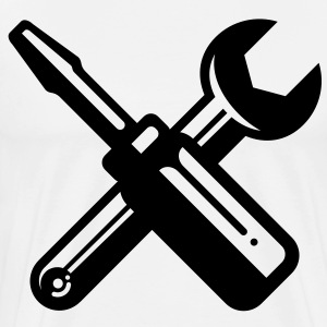 screwdriver wrench carpenter profession T-shirts - Herre premium T-shirt