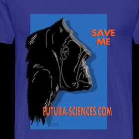 Motif ~ Save Gorille homme bleu royal