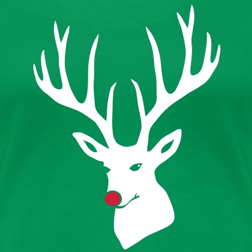 christmas x-mas merry reindeer deer rudolph red nose antlers buck heart