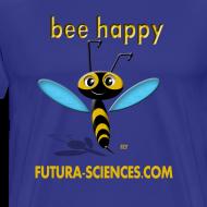 Motif ~ Bee happy homme bleu vert