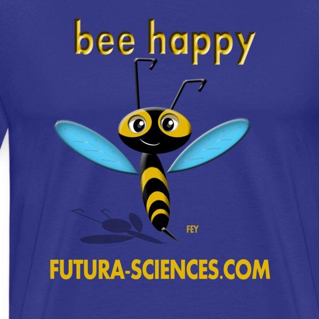 Bee happy homme bleu vert