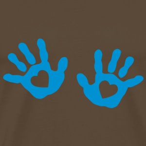 baby - hands - handprint - heart T-Shirts - Men's Premium T-Shirt