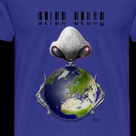 Motif ~ Alien story homme bleu ciel