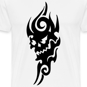 tribal tattoo skull T-skjorter - Premium T-skjorte for menn