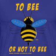 Motif ~ To bee homme bleu marine