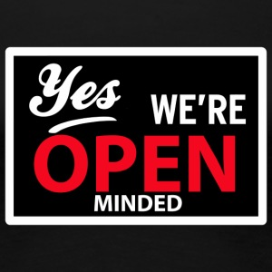 yes we are open minded T-skjorter - Premium T-skjorte for kvinner