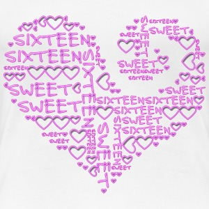 SWEET SIXTEEN - Heart | Girlieshirt - Frauen Premium T-Shirt
