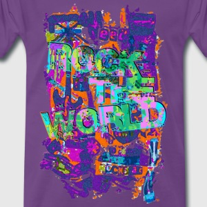 ROCK THE WORLD - grunge style | unisex shirt - Männer Premium T-Shirt