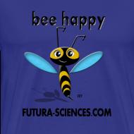 Motif ~ Bee happy homme bleu ciel