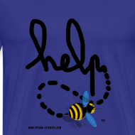 Motif ~ Help homme bleu ciel