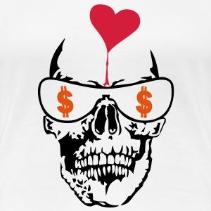 tete mort dollars poker coeur heart