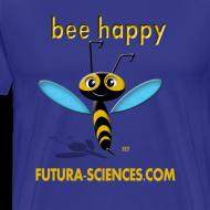 Motif ~ Bee happy homme bleu royal