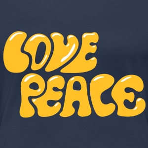 Love Peace seventies 70s retro style flower power T-shirts - Vrouwen Premium T-shirt