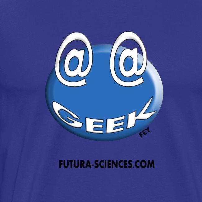 Geek homme bleu bleu ciel