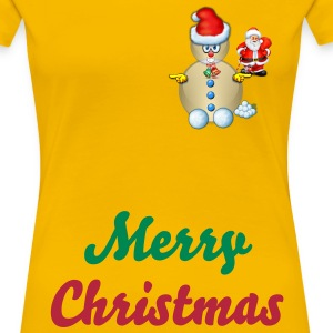 Snowman Merry Christmas - Women's Premium T-Shirt