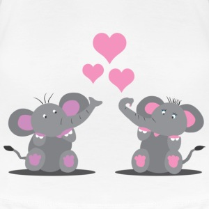 Elephants in Love T-shirts - Dame premium T-shirt