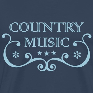 Country Western Music * Folk Rock Musik Old Style T-shirts - Herre premium T-shirt