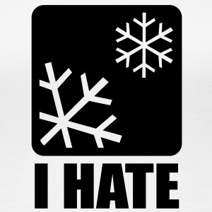 I HATE SNOW Girlieshirt BW - Frauen Premium T-Shirt