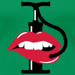 pump up lips | Lippen aufspritzen T-Shirts - Frauen Premium T-Shirt