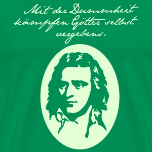 Schiller, bottle green - Männer Premium T-Shirt