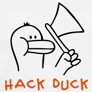 Hack Duck T-shirts - Herre premium T-shirt