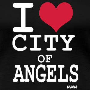 i love city of angels - Los Angeles Koszulki - Koszulka damska Premium