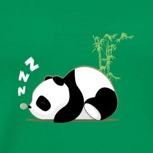Moss green Sleeping panda T-Shirts - Men's Premium T-Shirt