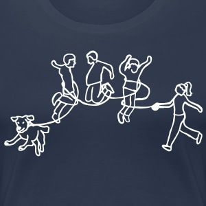 Walk the Dog - Frauen Premium T-Shirt