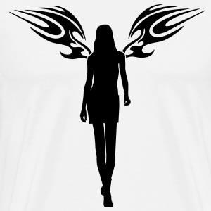 angel woman sexy sex tribal wings T-shirts - Mannen Premium T-shirt